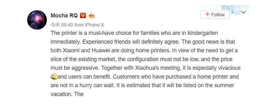 Xiaomi és a Huawei is belép a nyomtatók piacára